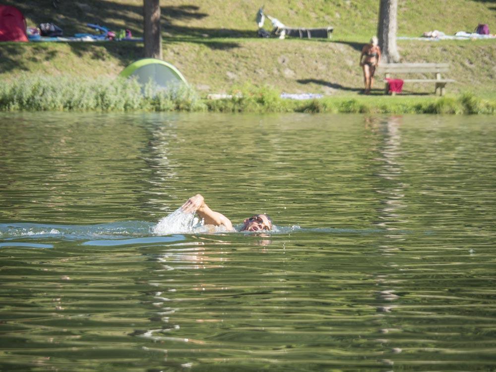 Bild vom Stausee in Forchtenstein (Schwimmer 01)