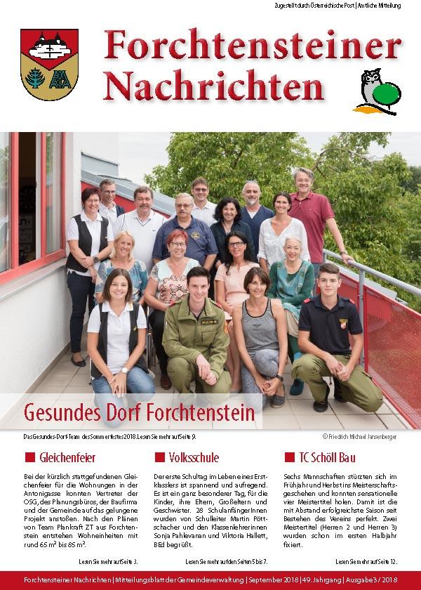 Titel der Gemeindezeitung-Herbst-2018-Cover