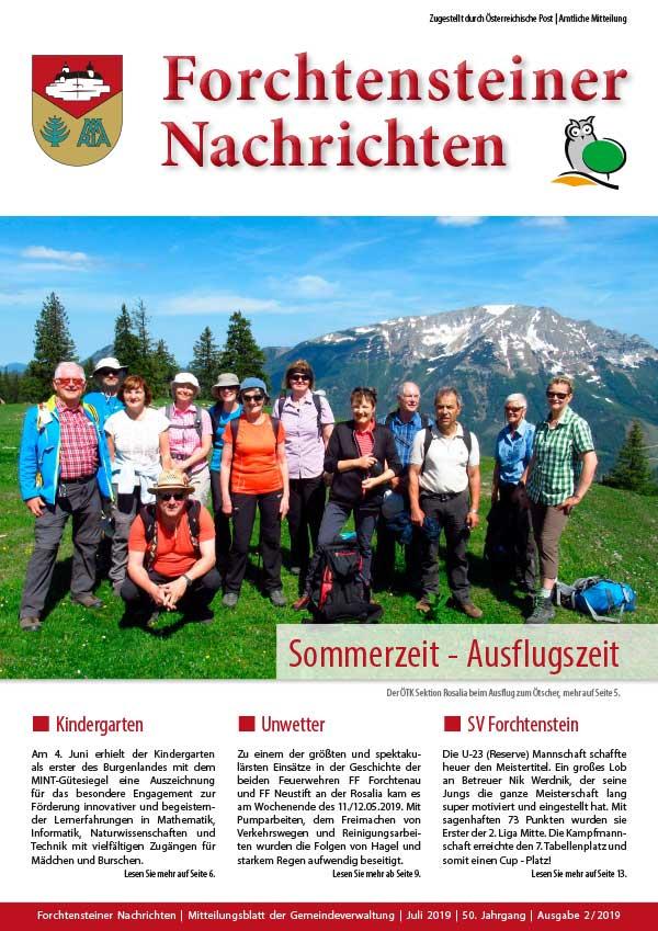 Foto der Gemeindezeitung-Sommer-2019-cover