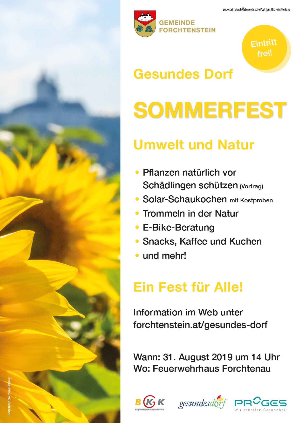 Ankündigung Sommerfest 2019