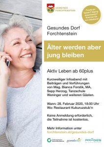 Infoabend Gesundes Dorf - Flyer
