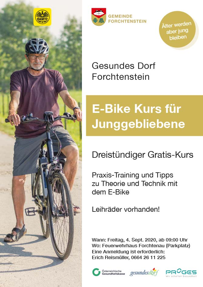 Ankündigung: E-Bike-Gesundes-Dorf-Forchtenstein-09-2020