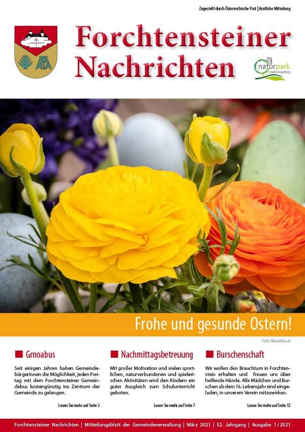 Gemeindezeitung, Frühjahr 2021 (Cover)