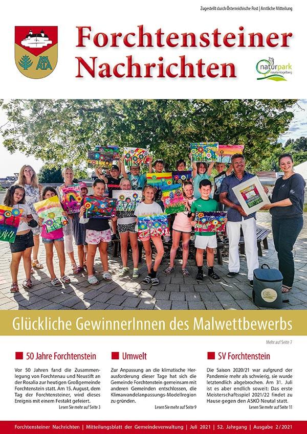 Das Cover der Gemeindezeitung-Forchtenstein-Sommer-2021