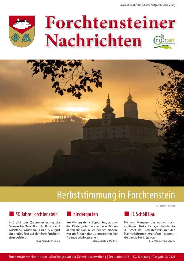 Bild: Gemeindezeitung-Forchtenstein-Herbst-2021-cover